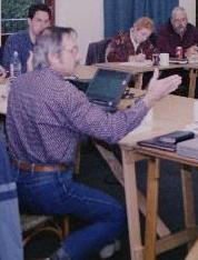 Author teaching in England, UK, in 1999